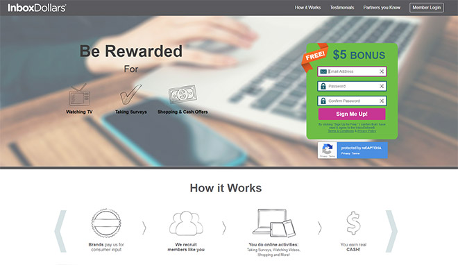 Get rewarded for taking surveys on InboxDollars