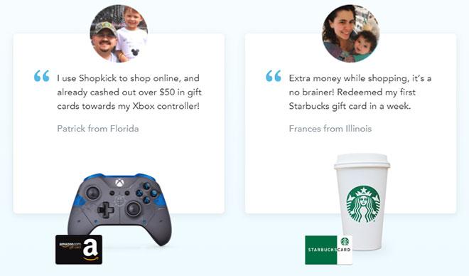 Shopkick app testimonials