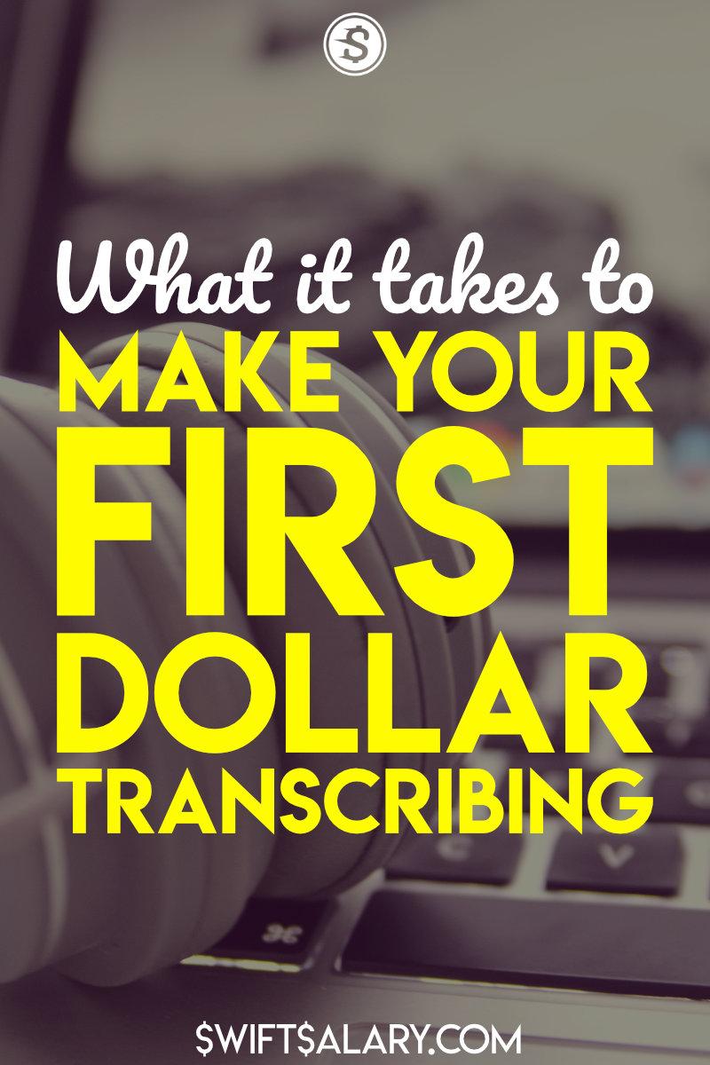 Make money transcribing pin