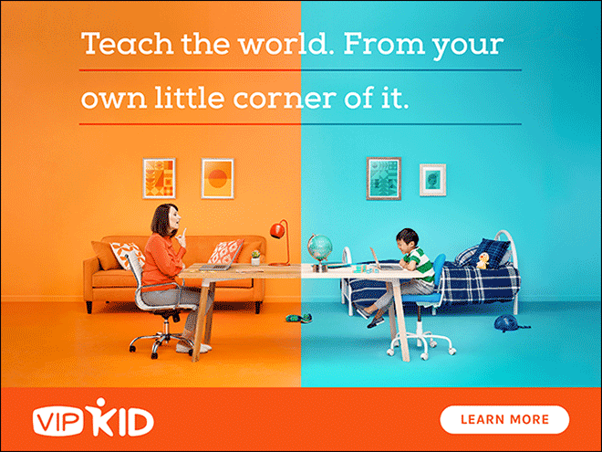 VIPKID teach the world from your own little corner of it