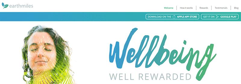 Earthmiles Wellbeing rewarded