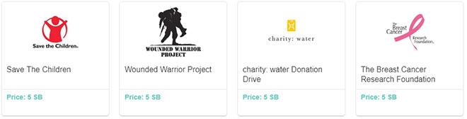 Donazioni di beneficenza Swagbucks