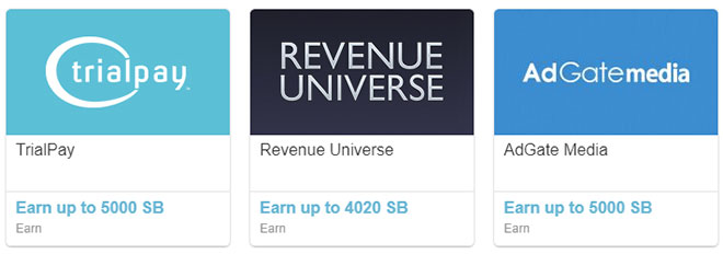 Discover offers paying up to 5000 Swagbucks