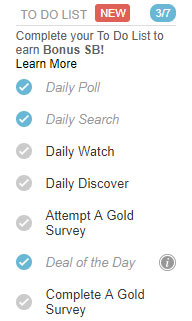 Swagbucks review daily to-do list
