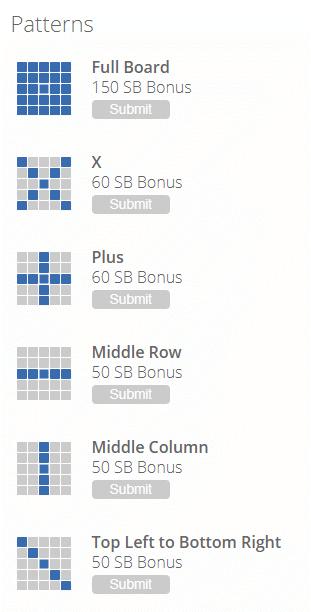 Swago board patterns