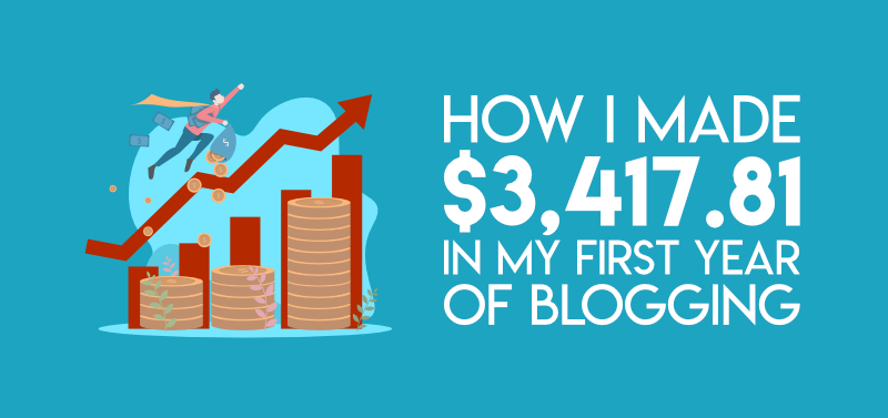 First year blog income report