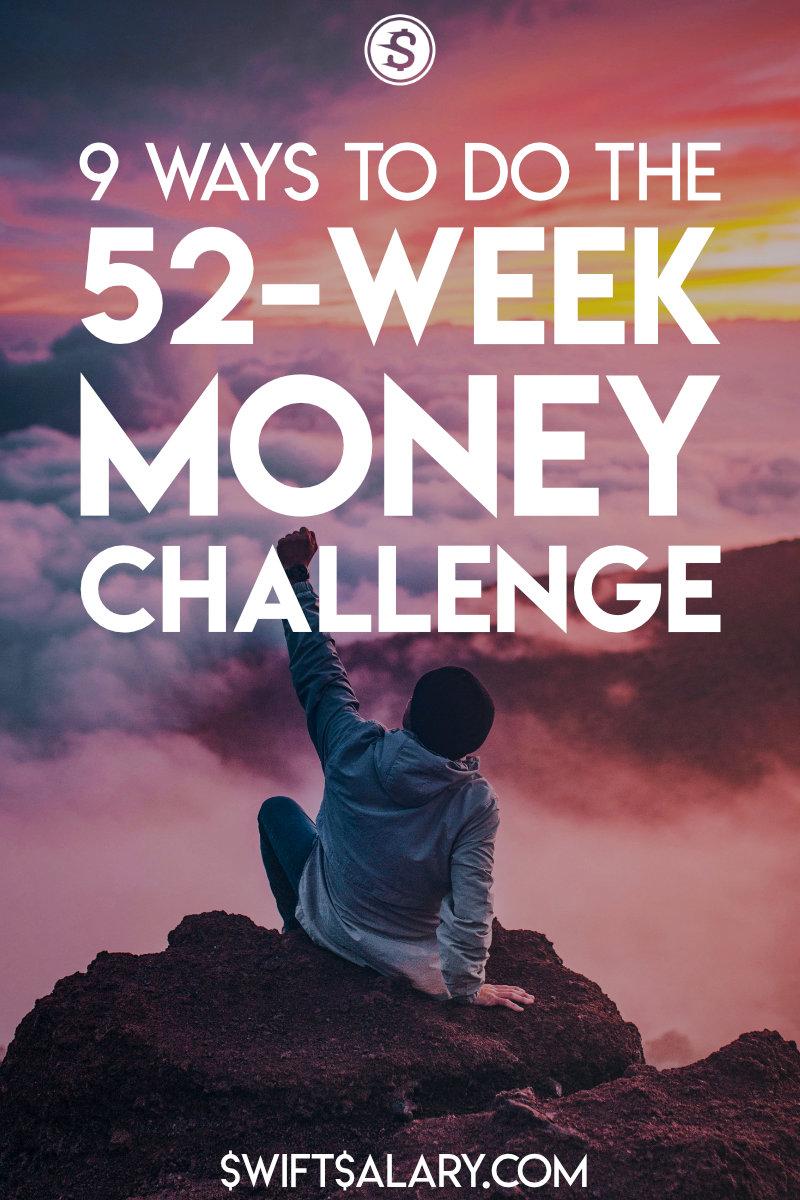52-week saving challenge pinterest pin