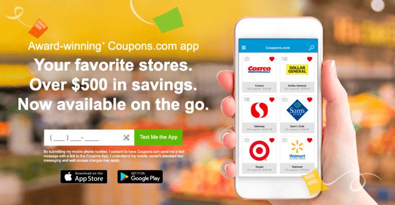 Coupons.com app install