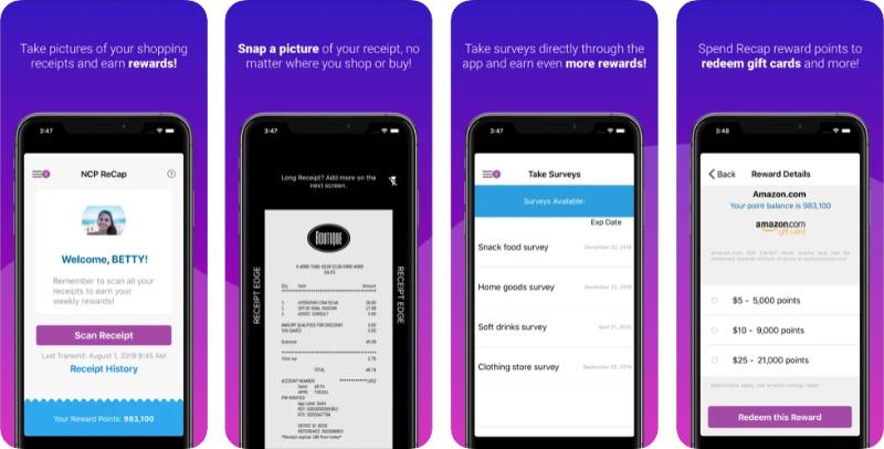 NCP ReCap receipt app
