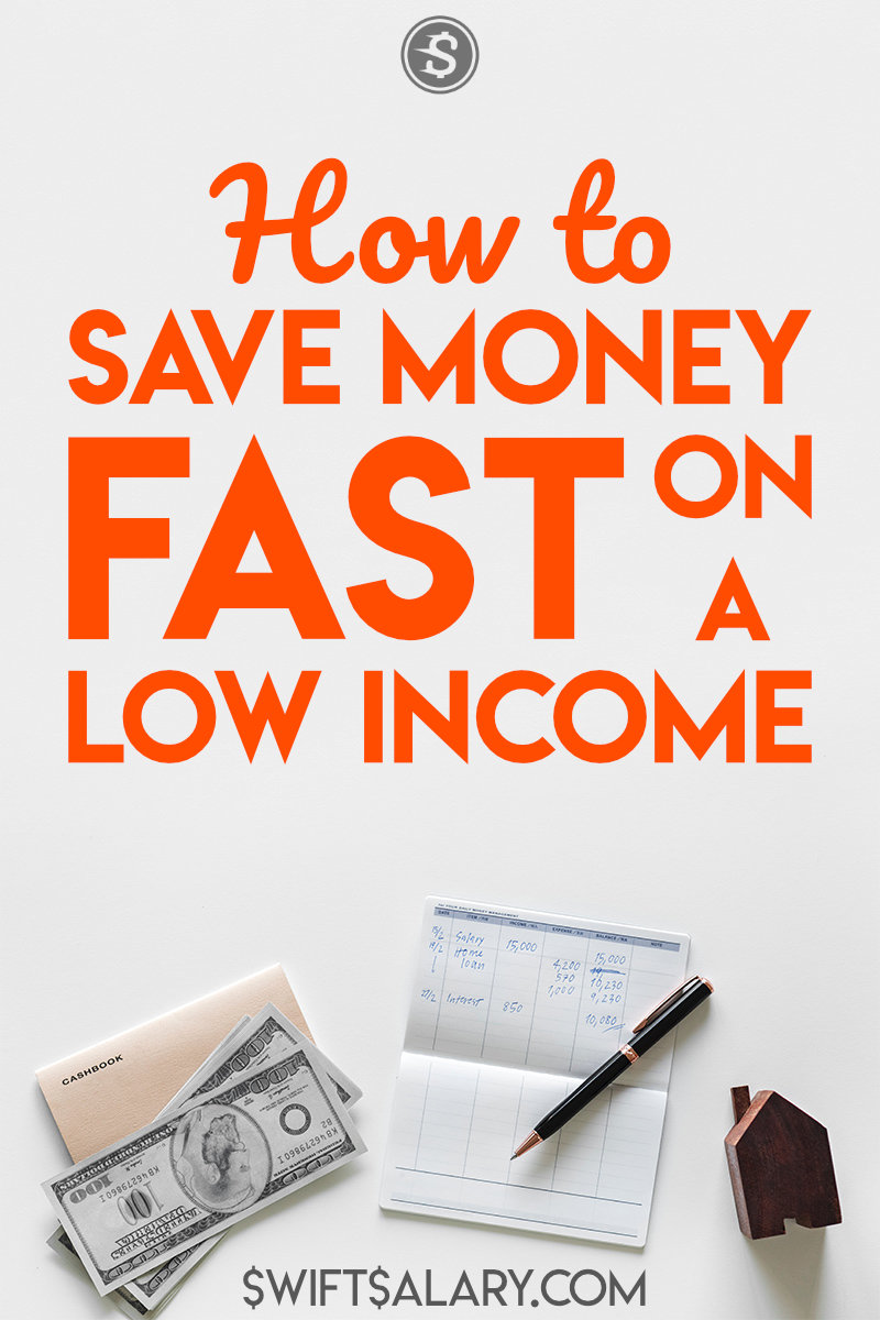 How to save money fast on a low income (Pinterest pin)