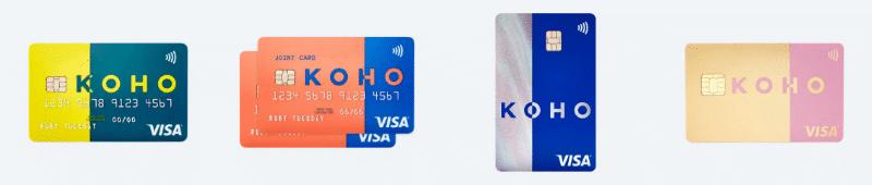 Koho card options