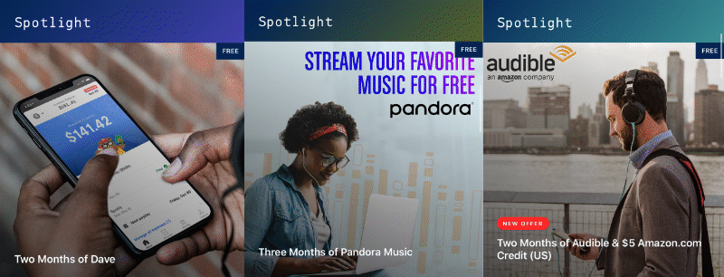 Two months of Dave, Pandora music, and Amazon Audible spotlight offers