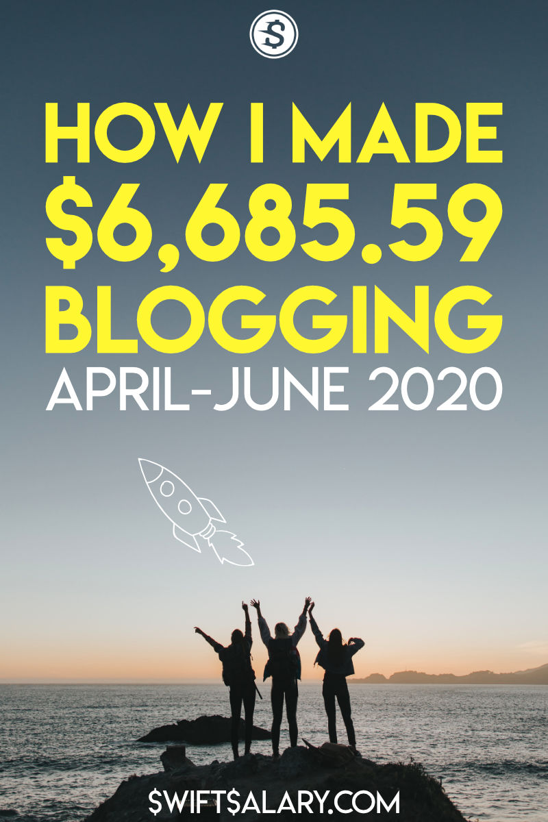 How I Made $6,685.59 Blogging from April-June of 2020