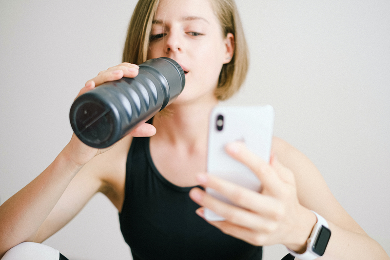 Person using a fitness app