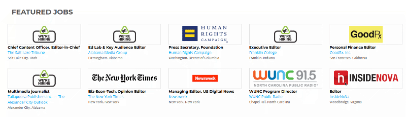 Journalism Jobs featured editing jobs