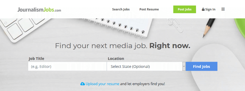 Journalism Jobs search function