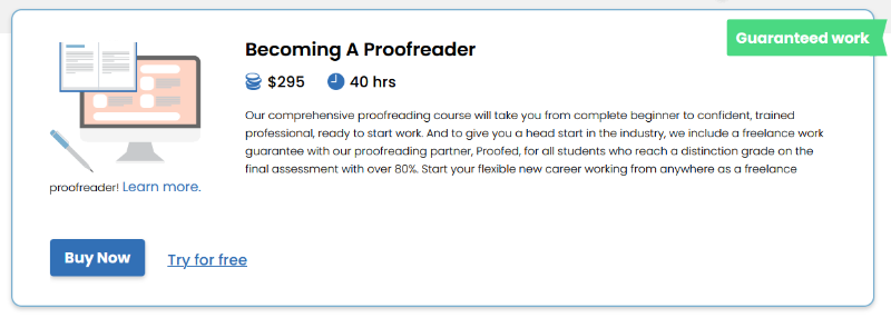 Click to learn more about the Proofreading Academy