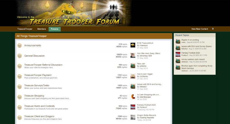 Treasure Trooper forum homepage