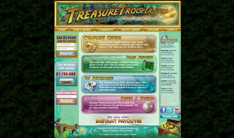 Treasure Trooper home page