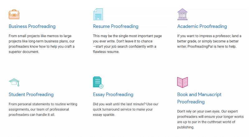 Types of proofreading jobs on Proofreadingpal