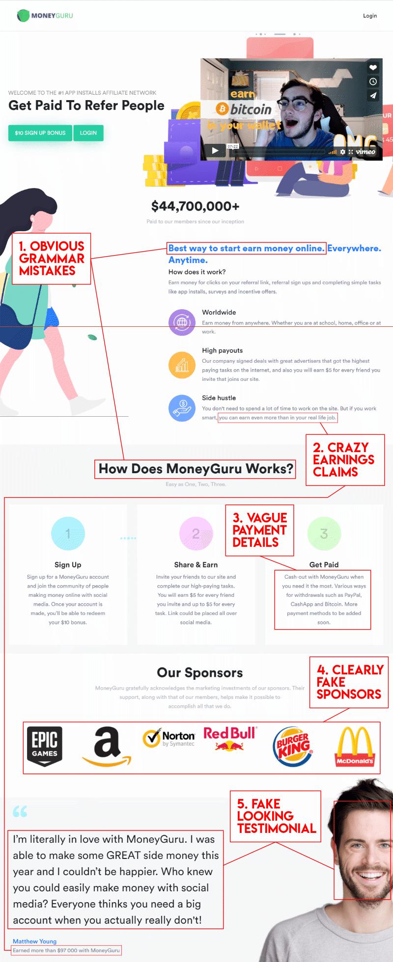 MoneyGuru scam surveys. Quick look at this scam GPT site.
