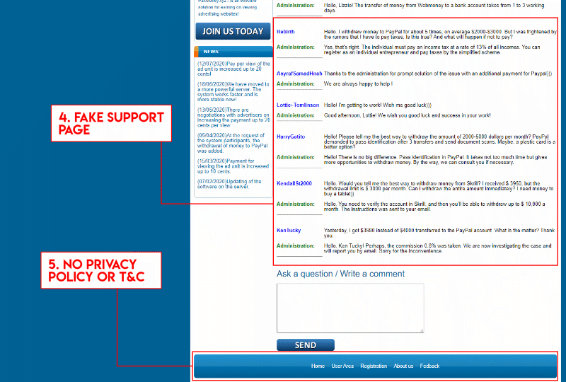 Paxmoney scam support page