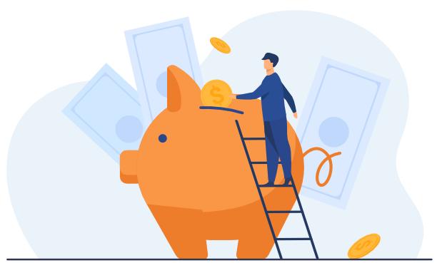 Teen investor using savings account