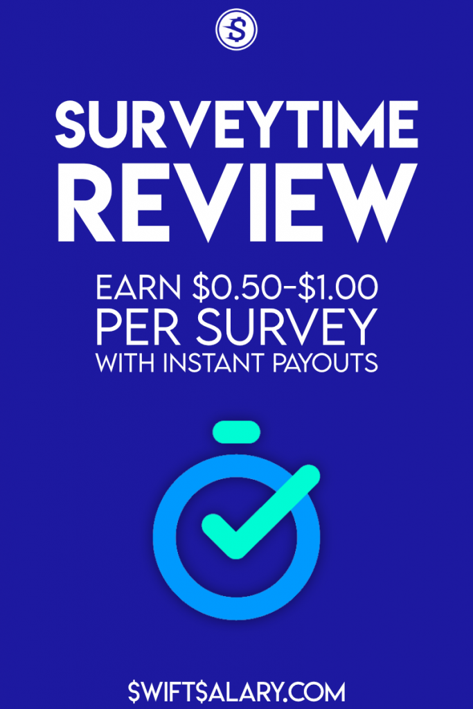 Surveytime review: get paid $0.50 to $1 instantly for completed surveys
