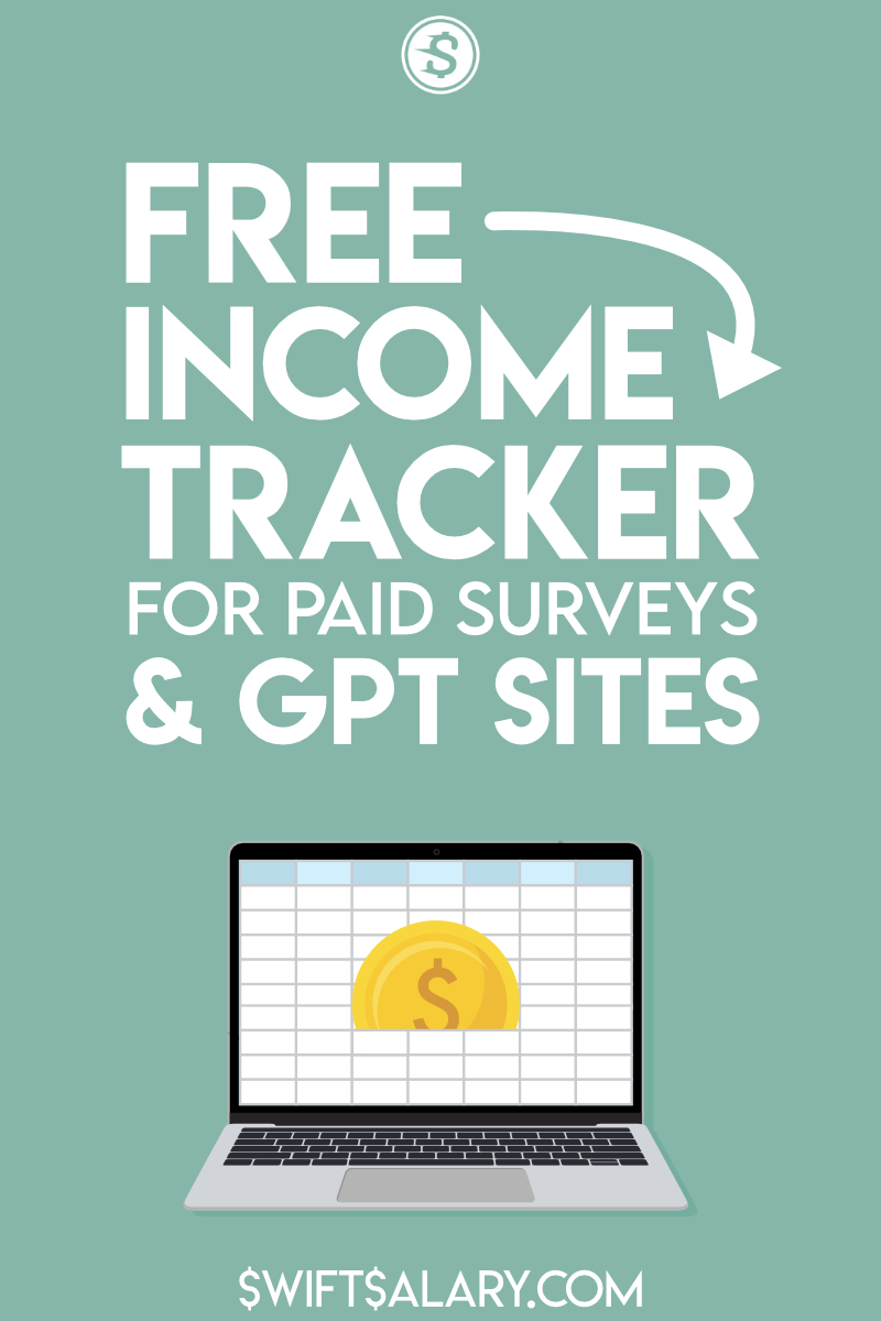 Free income tracker for paid surveys and GPT sites