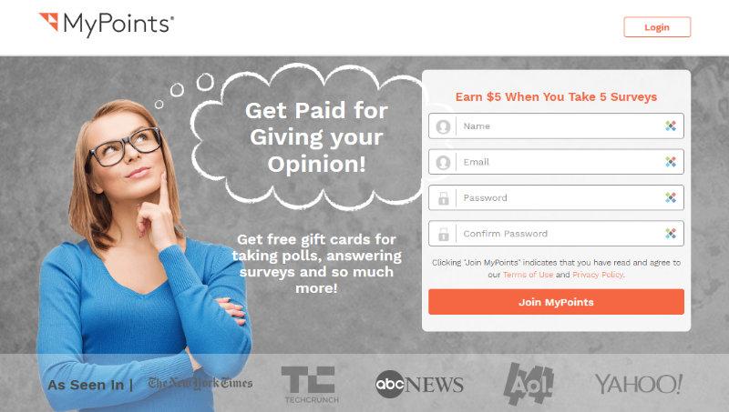 MyPoints free $5 survey bonus