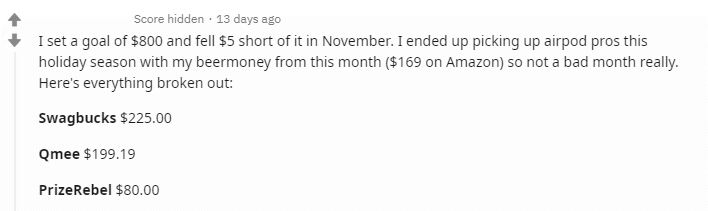 Redditor bought Airpod pros with Get Paid To sites and apps