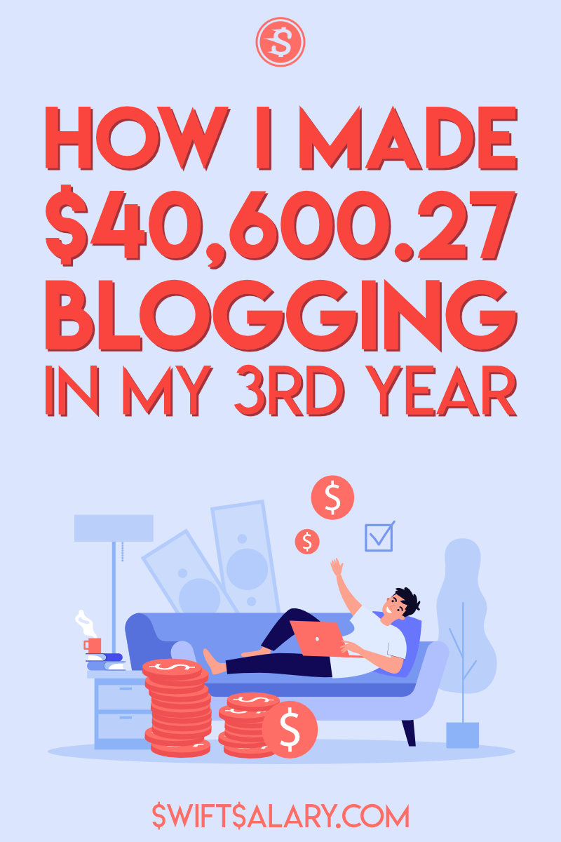How I made $40,600.27 blogging in my 3rd year.
