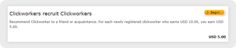 Clickworker referral program preview
