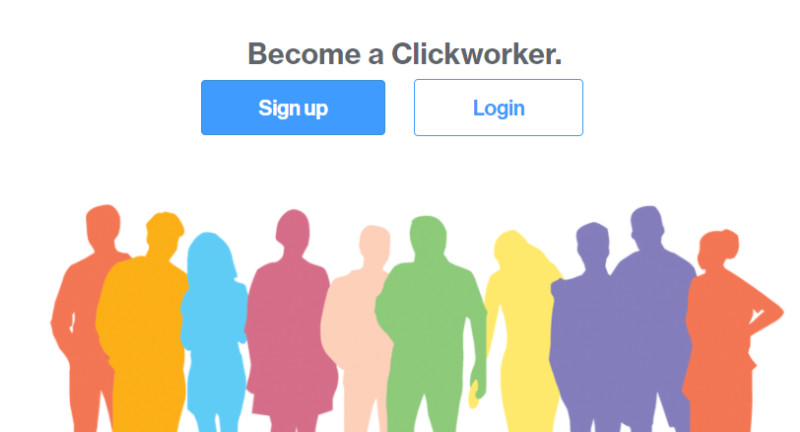 Click to sign up for Clickworker