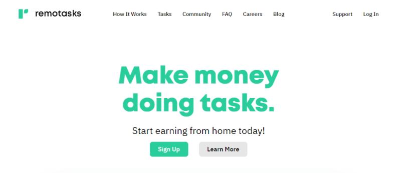 Remotasks make money doing tasks