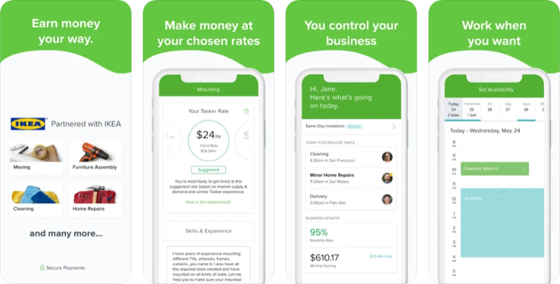 TaskRabbit app preview