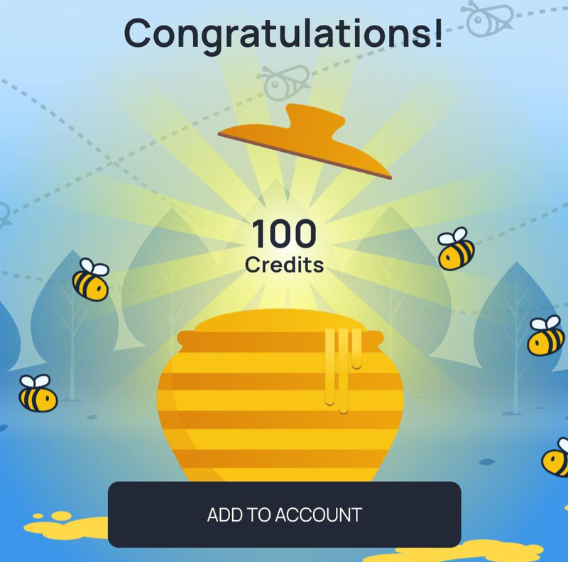 100 credits from the Lucky Jar
