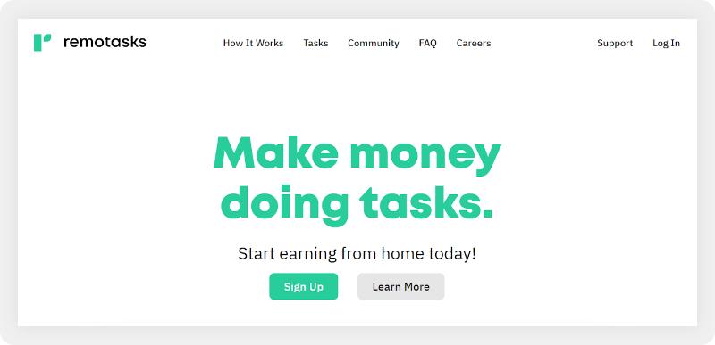Remotasks home page