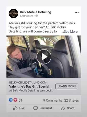 Valentine's Day FB ad preview