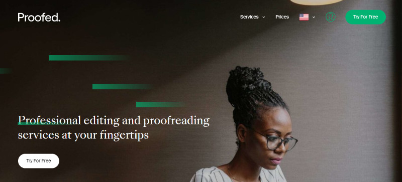 Proofed homepage