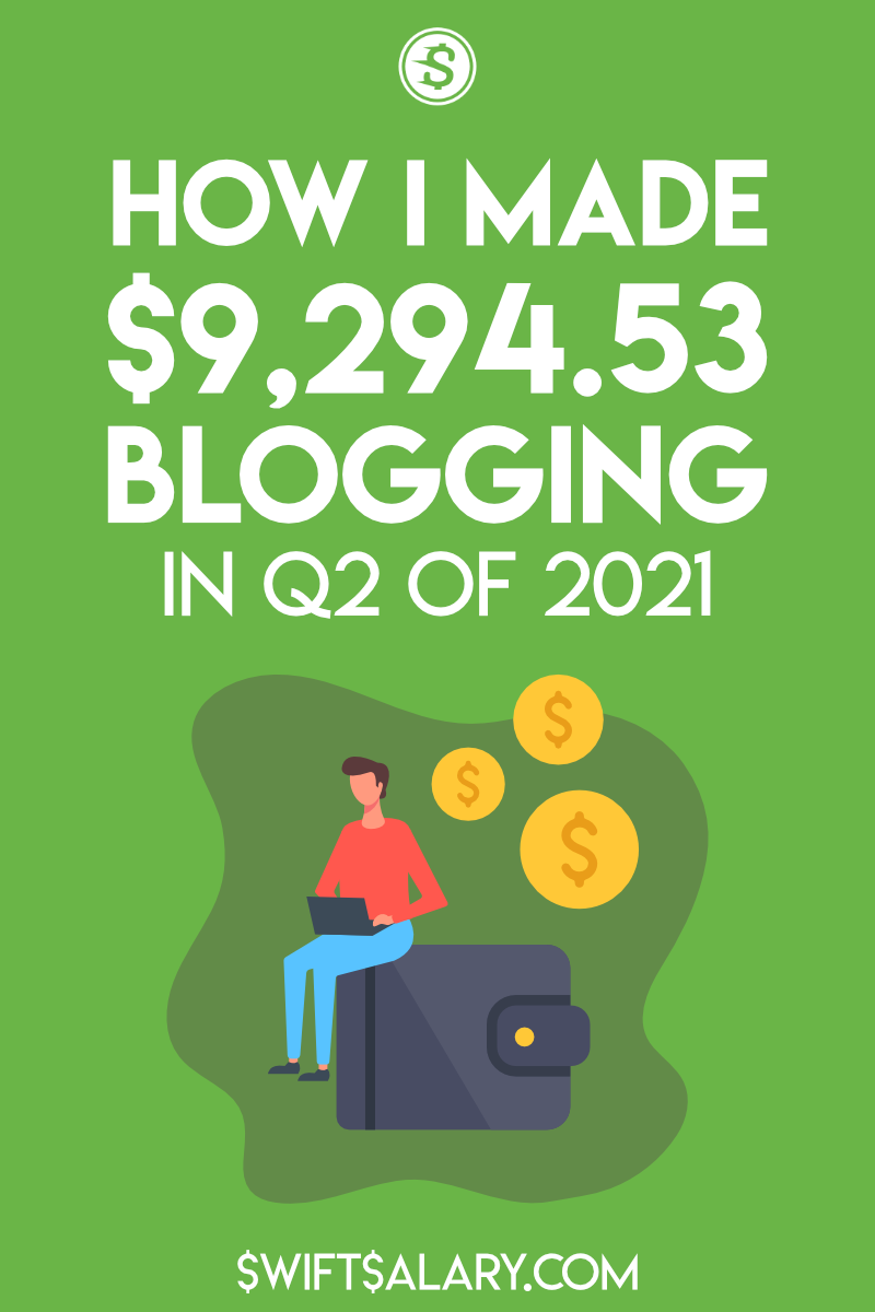 How I made $9,294.53 blogging in Q2 of 2021