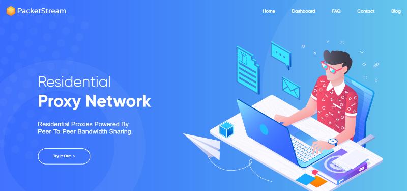 PacketStream homepage